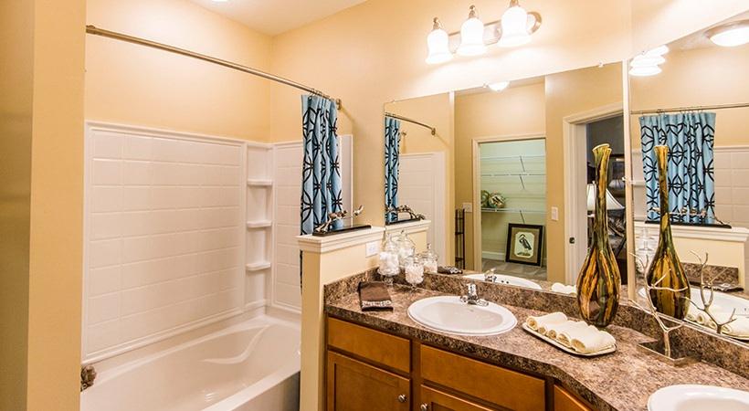 Dual Sinks in Bathroom